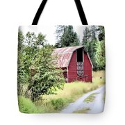 Naples Red Barn  Tote Bag