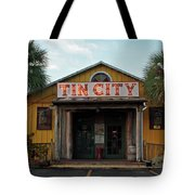 Naples Tin City - Open For Business Tote Bag