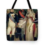 Napoleon Bonaparte Receiving Queen Louisa Of Prussia Tote Bag by Nicolas Louis Francois Gosse