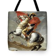 Napoleon Crossing The Alps, Jacques Louis David, From The Original Version Of This Painting  Tote Bag