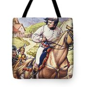 Napoleon Making A Narrow Escape With An Austrian Cavalry Patrol Close On His Heels Tote Bag