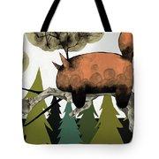Napping Squirrel Tote Bag