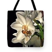 Narcissus And The Bee 3 Tote Bag
