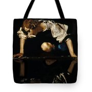 Narcissus Tote Bag by Caravaggio