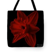 Narcissus Red Flower Square Tote Bag