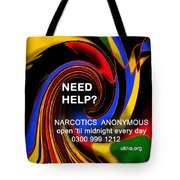 Narcotics Anonymous Poster Tote Bag