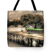 Narrow Boat And Jetty Tote Bag