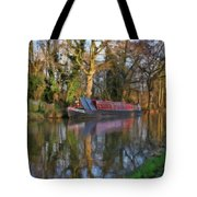 Narrow Boat On Wey Navigation - P4a16008 Tote Bag