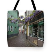 Narrow Street In Freiburg Tote Bag