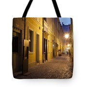 Narrow Street In Old Town Of Wroclaw In Poland Tote Bag