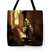 Narrow Streets Fes Male Donkey  Tote Bag