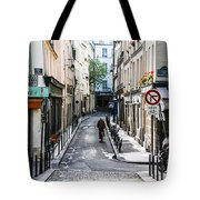 Narrow Streets Of The Latin Quarter In Paris, France Tote Bag