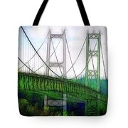 Narrows Bridge Abstract Tote Bag