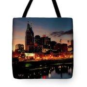 Nashville At Sunset Tote Bag