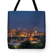 Nashville By Night 2 Tote Bag by Douglas Barnett