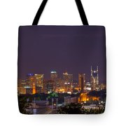 Nashville By Night 3 Tote Bag by Douglas Barnett