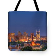 Nashville By Night Tote Bag