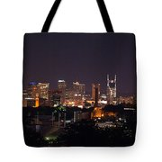 Nashville Cityscape 2 Tote Bag