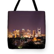 Nashville Night Scene Tote Bag