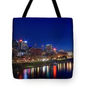 Nashville Skyline Tote Bag by Photography by Laura Lee