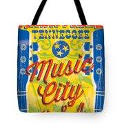 Nashville Tennessee Poster Tote Bag