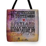 Nashville Tn V1 Tote Bag