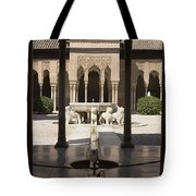 Nasrid Palaces Alhambra Granada Spain Europe Tote Bag
