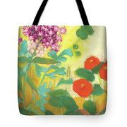 Nasturtiums, Rose Milkweed And Rue Tote Bag