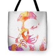 Nat King Cole Watercolor Tote Bag