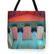 National Columns Blue Tote Bag