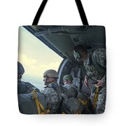 National Guard Special Forces Await Tote Bag