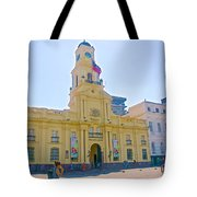 National History Museum On Plaza De Armas In Santiago-chile Tote Bag