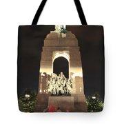 National War Memorial At Night Tote Bag