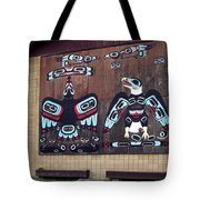 Native Alaskan Mural Tote Bag