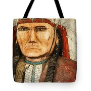 Native American Chief With Pipe Tote Bag