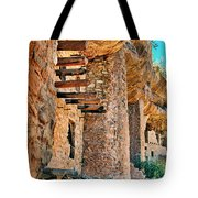 Native American Cliff Dwellings Tote Bag
