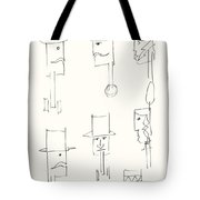 Native American Figures Tote Bag