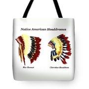 Native American Headdresses Tote Bag