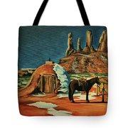 Native American Hogan Tote Bag