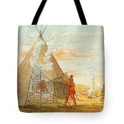 Native American Indian Sweat Lodge Tote Bag by Science Source