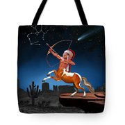 Native American Sagittarius Tote Bag