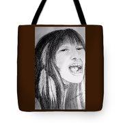 Native American Singer Tote Bag