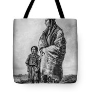 Native American Squaw And Child Tote Bag