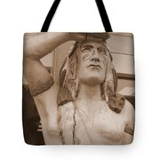 Native American Statue In Toppenish Tote Bag