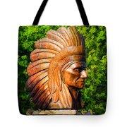 Native American Statue Tote Bag