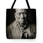 Native American Taos Indian White Clay Tote Bag by Jennifer Rondinelli Reilly - Fine Art Photography