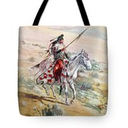 Native American Warrior Tote Bag