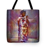 Native American - Young Girl Standing In Doorway Tote Bag