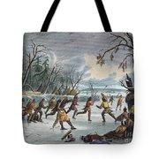 Native Americans: Ball Play, 1855 Tote Bag