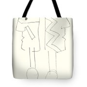 Native Americans Drawing Tote Bag by Charles Stuart